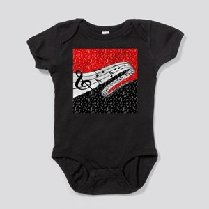 Red and black music theme Body Suit