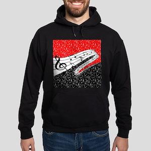 Red and black music theme Sweatshirt