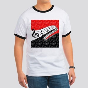 Red and black music theme T-Shirt