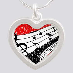 Red and black music theme Necklaces