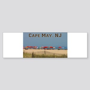 Cape May, NJ Beach Scene Bumper Sticker