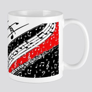 Red and black music theme Mugs