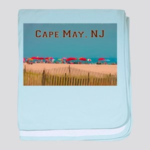 Cape May, NJ Beach Scene baby blanket