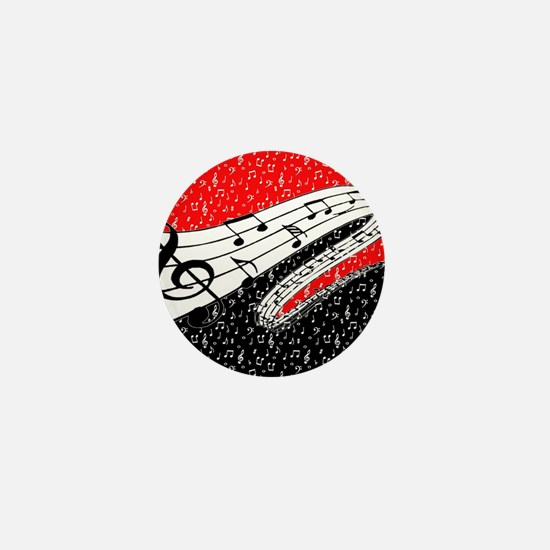 Red and black music theme Mini Button