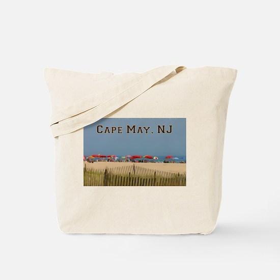 Cape May, NJ Beach Scene Tote Bag