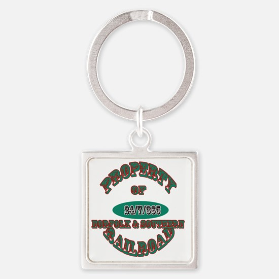 Cute Property of an engineer Square Keychain