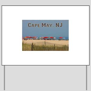 Cape May, NJ Beach Scene Yard Sign