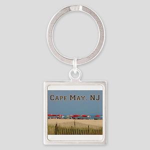 Cape May, NJ Beach Scene Keychains