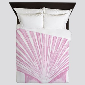 Scallop Seashell in shades of Pink Queen Duvet