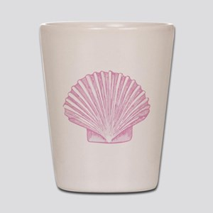 Scallop Seashell in shades of Pink Shot Glass