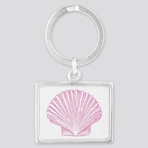 Scallop Seashell in shades of Pink Keychains