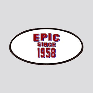 Epic Since 1958 Birthday Designs Patch