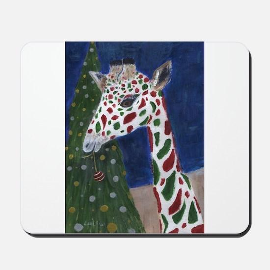 Christmas Giraffe Mousepad
