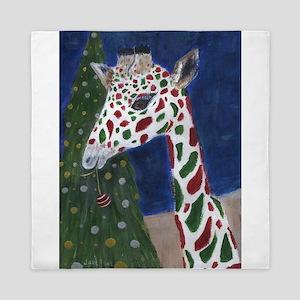 Christmas Giraffe Queen Duvet