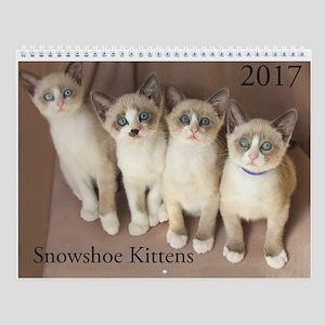 Snowshoe Kitten Wall Calendar