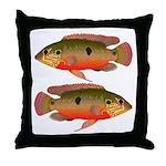 African Jewelfish Throw Pillow