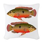 African Jewelfish Woven Throw Pillow
