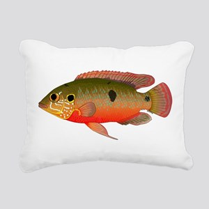 African Jewelfish Rectangular Canvas Pillow