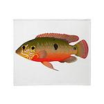 African Jewelfish Throw Blanket