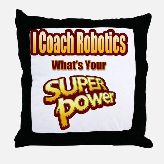 Unique Robot Throw Pillow