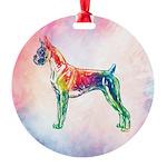 Boxer Round Ornament