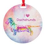 Dachshund Color Splash Ornament Ornament
