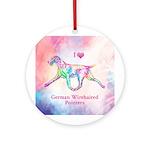 German Wirehaired Pointer Round Ornament