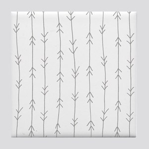 Grey, Fog: Arrows Pattern Tile Coaster