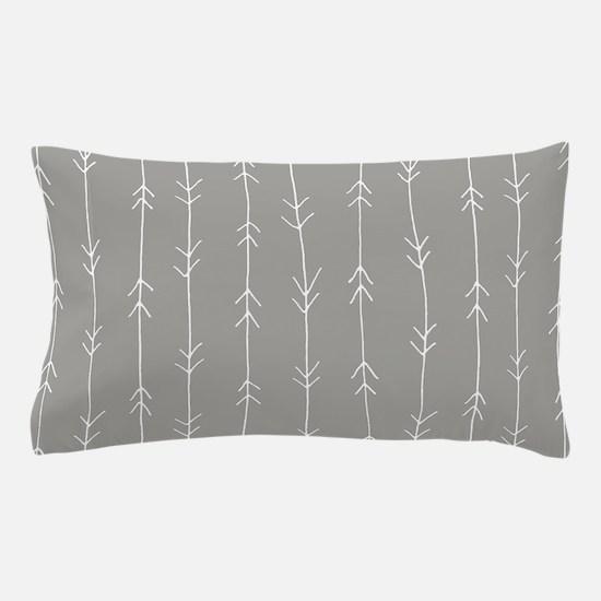 Grey, Fog: Arrows Pattern Pillow Case