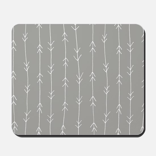 Grey, Fog: Arrows Pattern Mousepad
