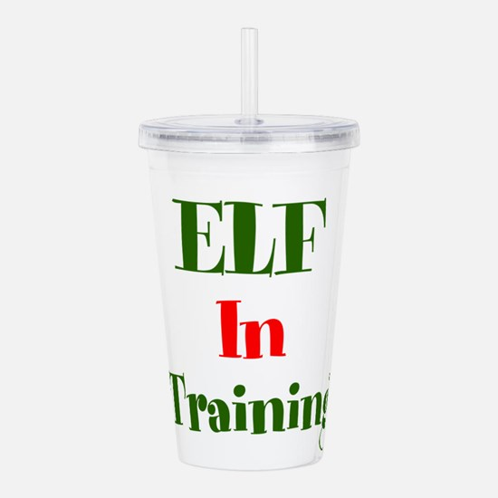 Elf In Training Acrylic Double-Wall Tumbler