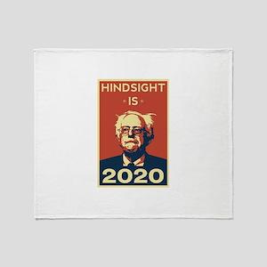 Bernie Sanders Hindsight is 2020 Throw Blanket
