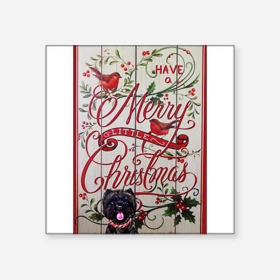Cairn Terrier Christmas Sticker