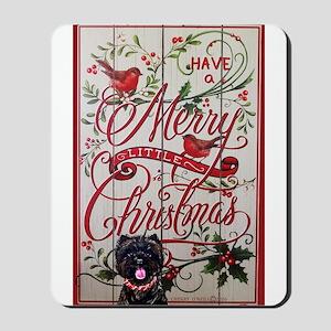 Cairn Terrier Christmas Mousepad