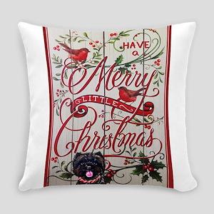 Cairn Terrier Christmas Everyday Pillow