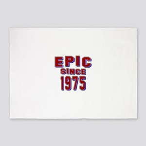 Epic Since 1975 Birthday Designs 5'x7'Area Rug