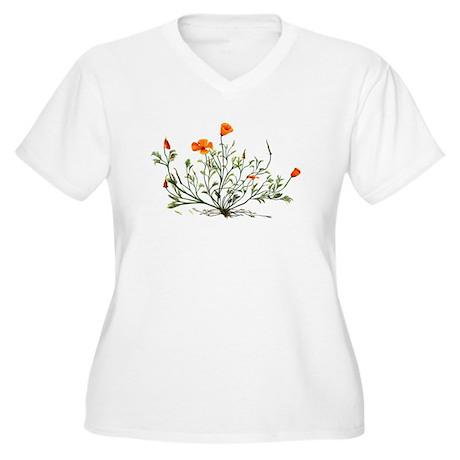 Escholtzia californica Plus Size T-Shirt