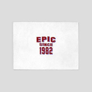 Epic Since 1982 Birthday Designs 5'x7'Area Rug