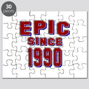 Epic Since 1990 Birthday Designs Puzzle