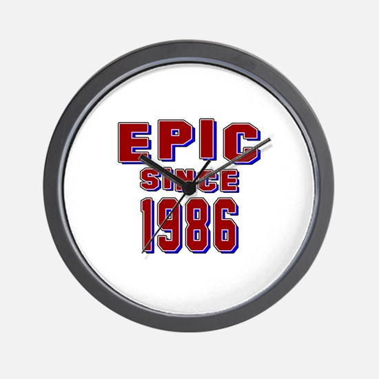Epic Since 1986 Birthday Designs Wall Clock