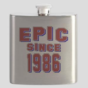 Epic Since 1986 Birthday Designs Flask