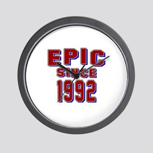 Epic Since 1992 Birthday Designs Wall Clock
