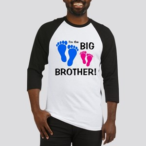 Big Brother Baby Footprints Baseball Jersey