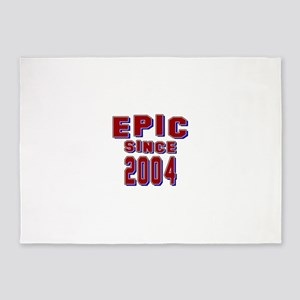 Epic Since 2004 Birthday Designs 5'x7'Area Rug