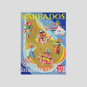 Barbados Vintage Travel Poster 5'x7'area R