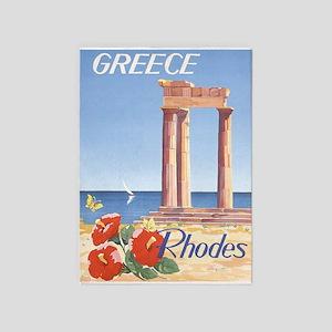 Greece, Rhodes, Vintage Travel 5'x7'area R