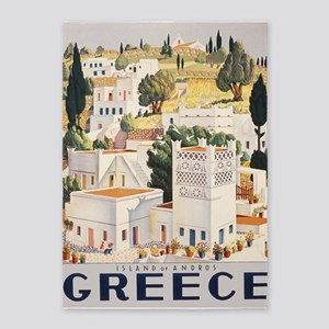 Greece, Island Of Andros, Vintage 5'x7'are