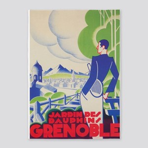 Grenoble, France, Tennis, Vintage 5'x7'are