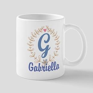 G Monogram Wreath Custom Gift Mugs