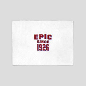 Epic Since 1926 Birthday Designs 5'x7'Area Rug